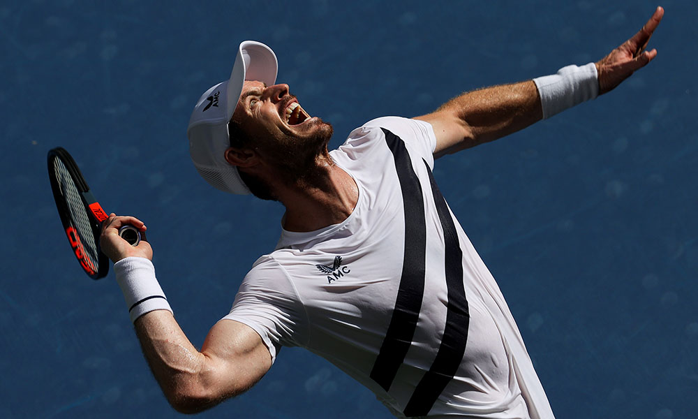 Andy Murray serve US Open