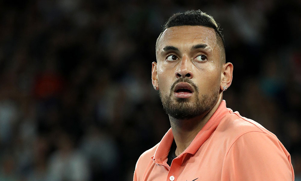Nick Kyrgios looking on