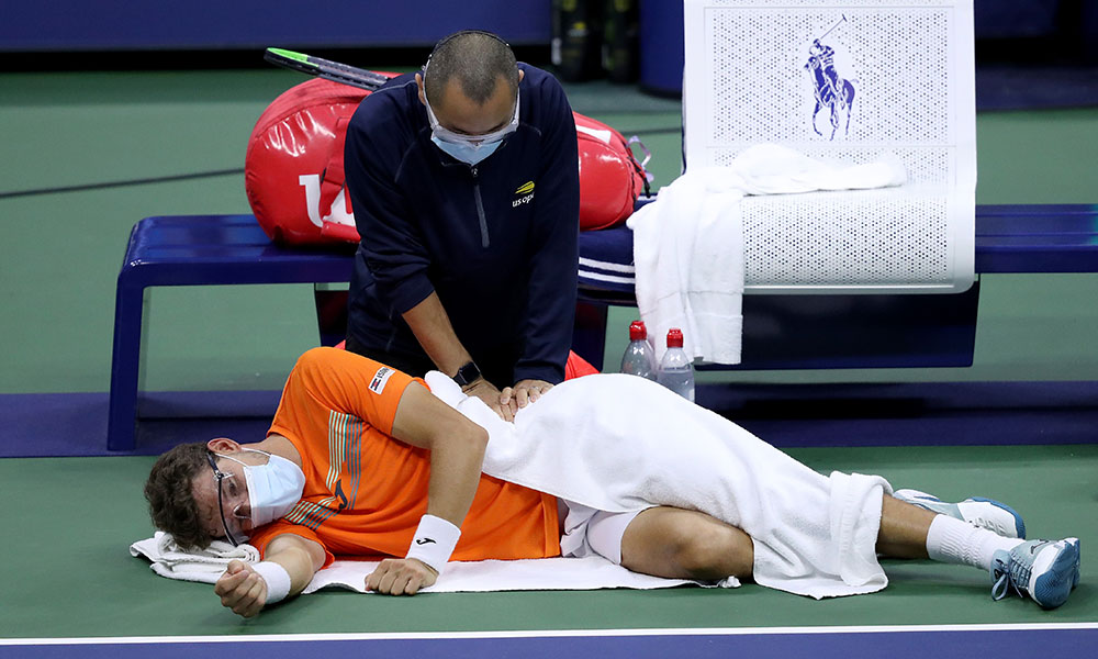 Pablo Carreno Busta medical time out