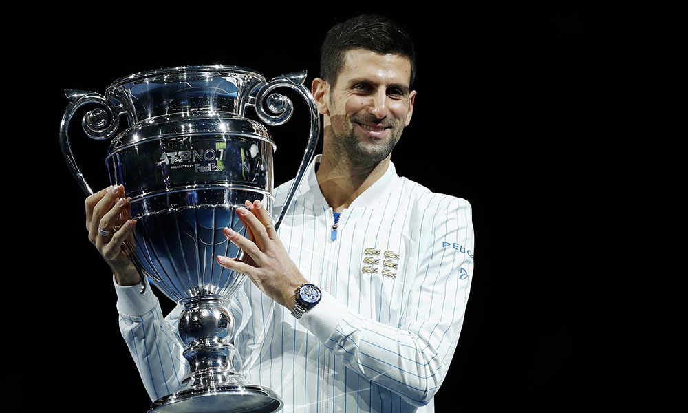 Novak Djokovic 2020 year end world number one