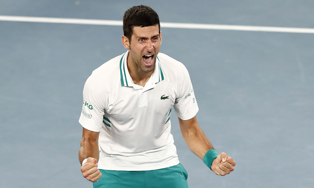 Novak Djokovic winning Australian Open