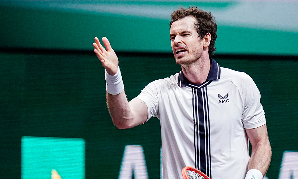 Andy Murray frustrated Rotterdam