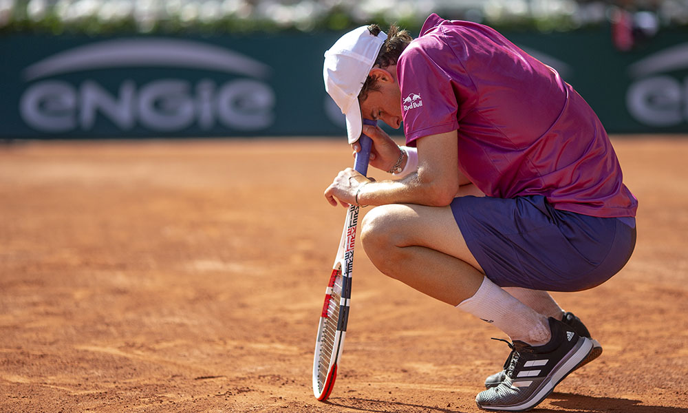 Dominic Thiem distraught at French Open
