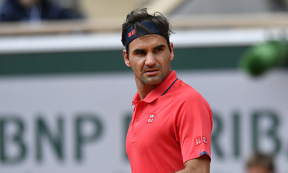 Roger Federer looking on at French Open
